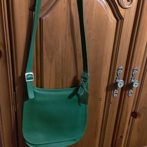 Coach Lime Green Leather Purse. $125